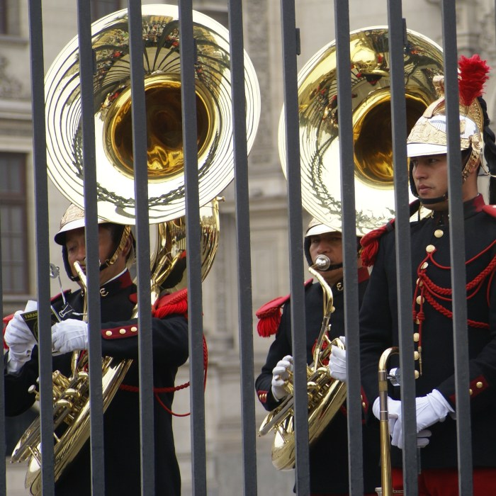 Changing of the Dragoon Guard at the Presidential Palace in Lima