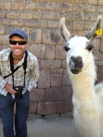 Machu Picchu Llama Selfie