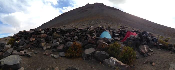 Monte Blanco El Misti Campsite