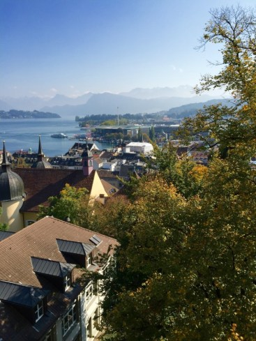 Lucerne in the fall, autumn