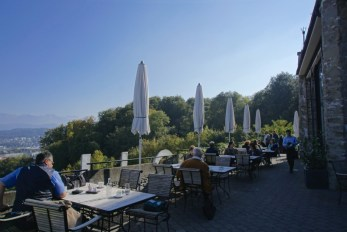 Chateau Gutsch outdoor cafe, Lucerne