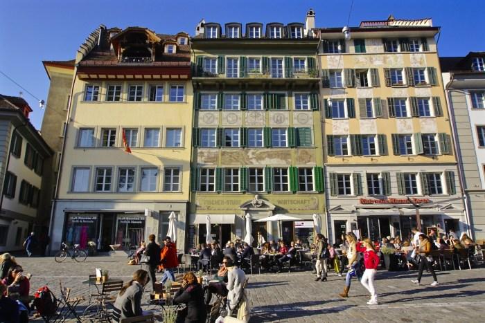 Outdoor cafe Old Town Lucerne