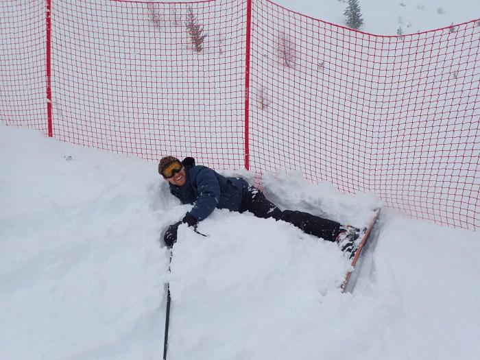 Justin Domeck Skiing and Crashing