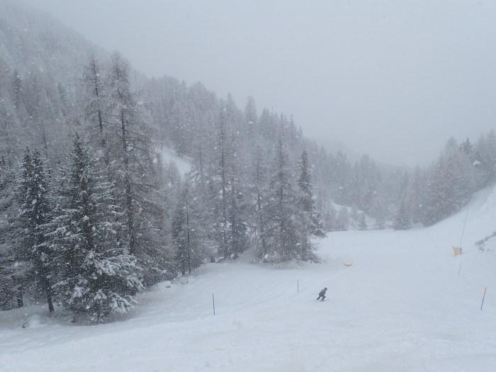 Justin Domeck Skiing