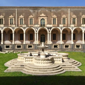 """Courtyard Benedictine Monastery of """"San Nicolò"""""""