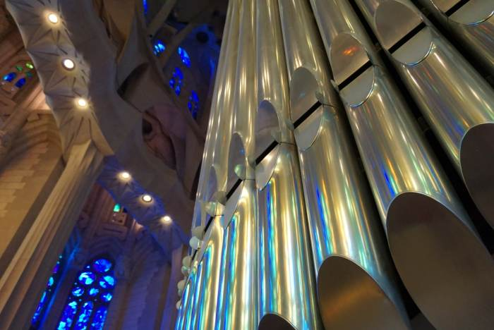 Sagrada Familia Organ Pipes