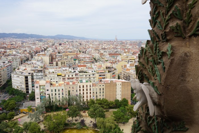 Bird's Eye view of Barcelona from La Sagrada Familia