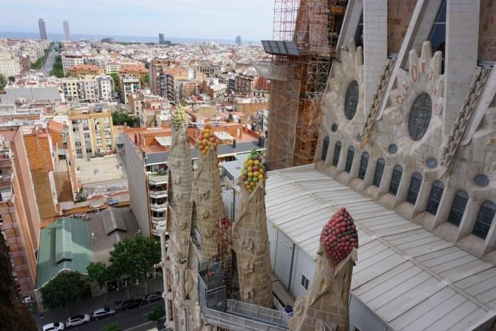 Construction on La Sagrada Familia