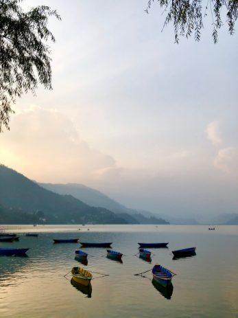 Pokhara Nepal lakeside