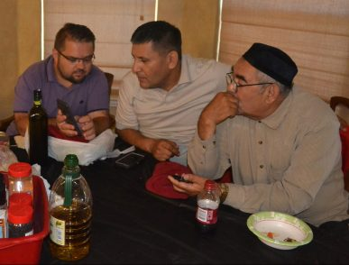 Pastor Leonid with Bahtiyor and Urinbay