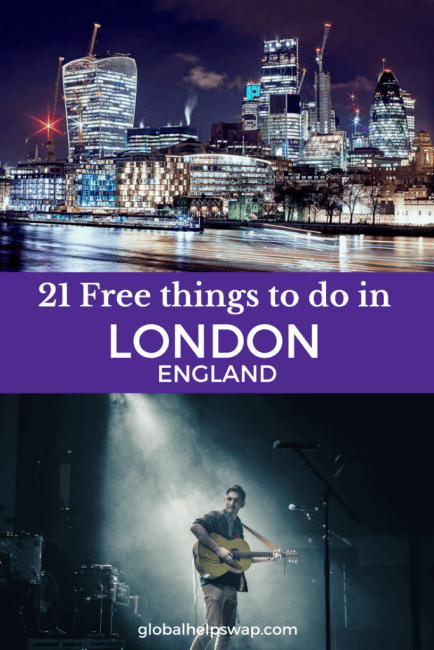 Free things to do in London. From free music and free comedy clubs to free cinema and exhibitions. London's museums are almost all free too as are the parks and markets.