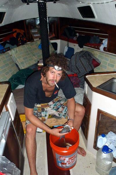 nat on boat