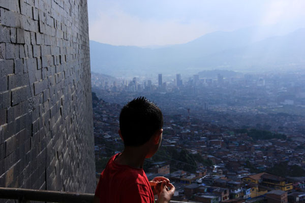 Barrios above Medellin