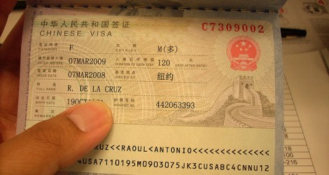 Getting your Visa for China