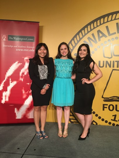From the left: Anh Nguyen '18, Natasha Tax '17 and Maura Edwards '18