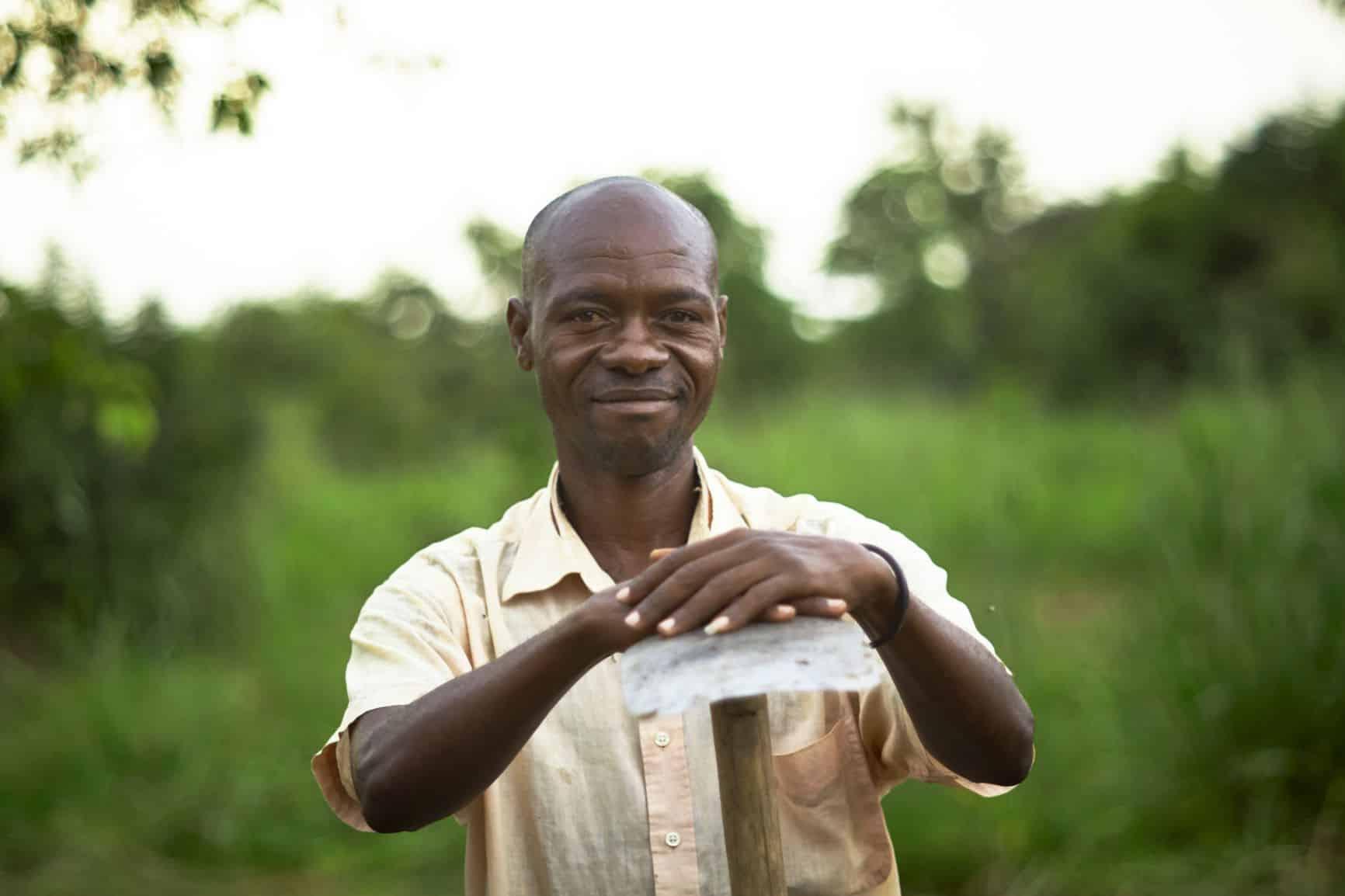 Ugandan man in nature
