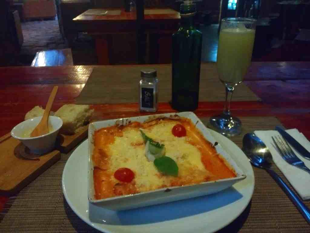 Italian food in San Pedro de Atacama