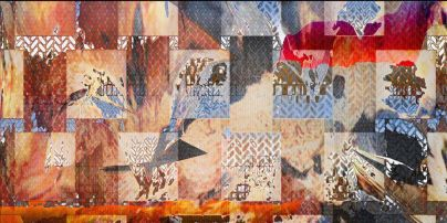 "Artist: Karen Edwards Title ""Inside Ouyside"" Size 14'' x 7'' Medium Archival ink on rag."
