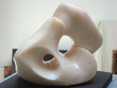 Artist: Vinka Dekovic-knight Title:Mother Earth- 2011 Size: 24x21x13 cm Pink Soap Stone( Steatite Rock )