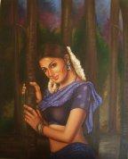 Artist: Madhumta Bhattacharya Title: Love lorn Lady