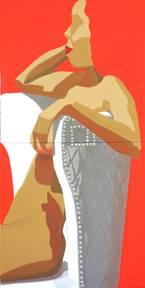 Artist: Susie Mckay Krieser Title: The Figure is locked in by the chair image 2