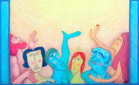 Artist: Pablo Hernandez Title:Solo alcanzaran la Gloria de Dios los puros de corazon