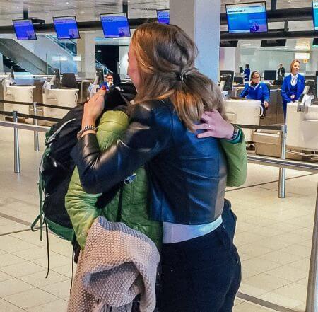 afscheid nemen reizen