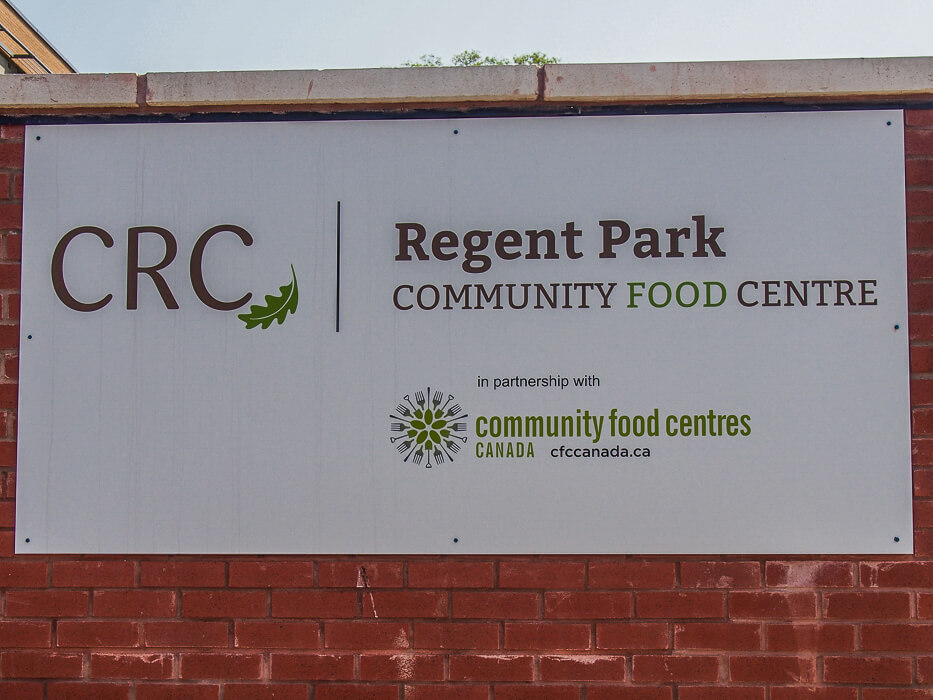 Regent Park is proud to have a good food kitchen