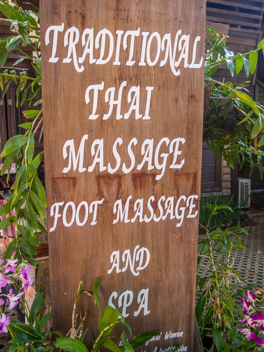 a traditional thai massage in chiang mai