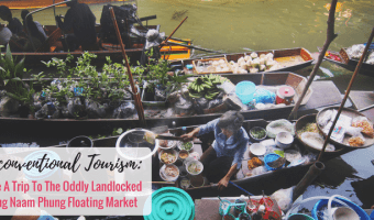 Visit The Odd Bang Naam Phung Floating Market Outside Bangkok, Thailand