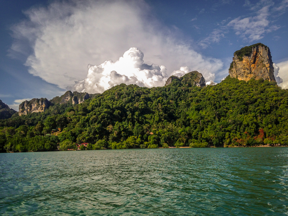 Railay's dramatic cliffs are known for rock climbing