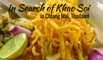 In search of Khao Soi in Chiang Mai, Thailand