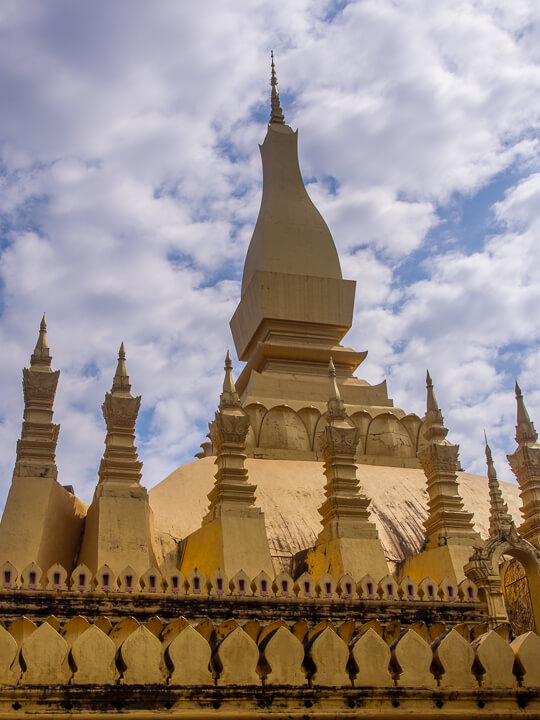 temple in vientiane central laos captial