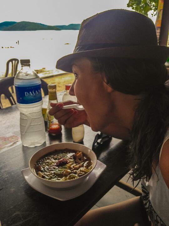 eating soup in langkawi malaysia