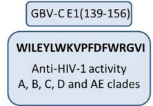 Featured GB virus C E1 Protein as a New HIV-1 Entry Inhibitor. Global Medical Discovery