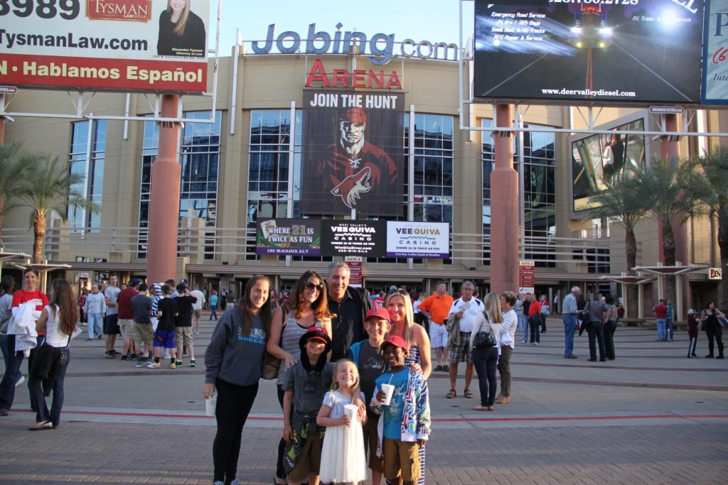Looking for things to do in Arizona for spring break? The Arizona Coyotes at Jobing.com Arena is super fun. For more options check out my Top 5 things to do in Arizona for spring break besides baseball