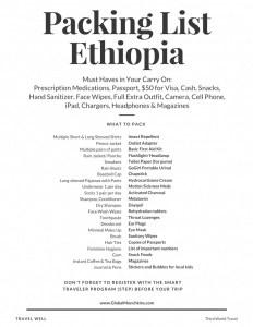 Packing ListEthiopia