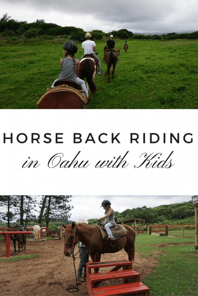 Looking for things to do in Oahu with kids. See why we think a visit to Gunstock Ranch is perfect for families. They have pony rides for little kids and trail rides for older kids and adults plus SO much more!