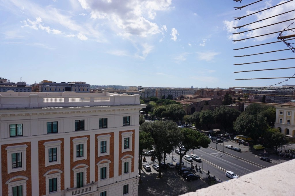 The view from my balcony at Hotel Royal Santina in Rome.