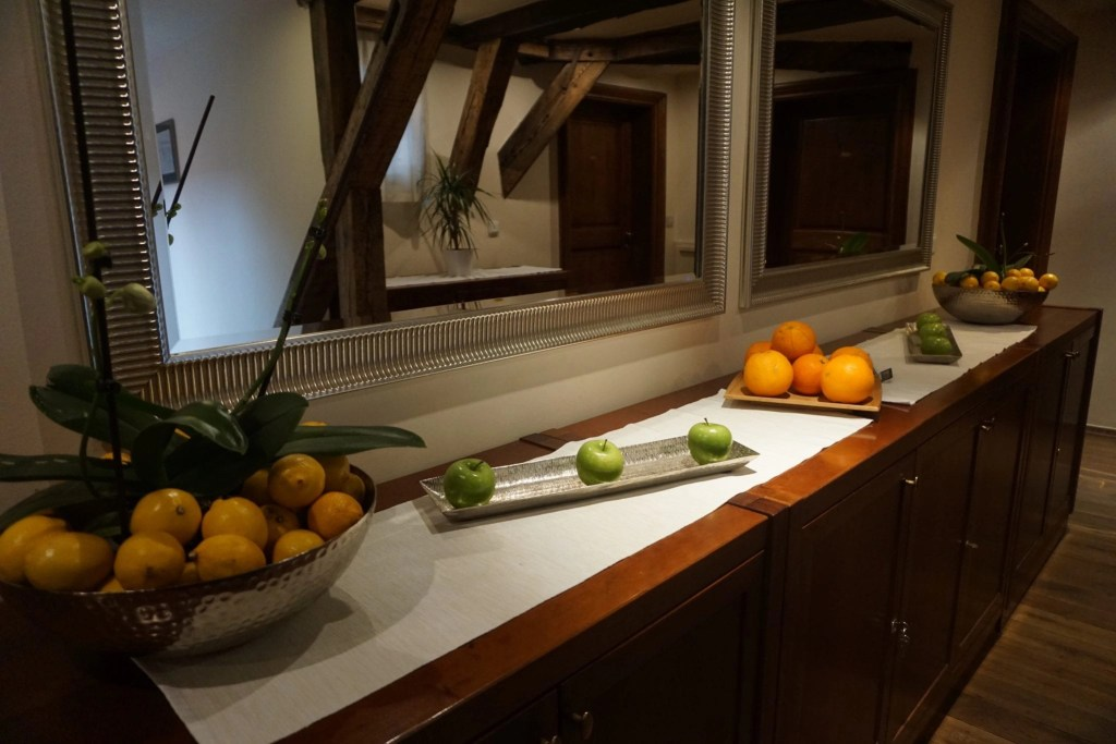 Free fruit all day at The Nicholas Hotel Residence in Prague. A review by Global Munchkins