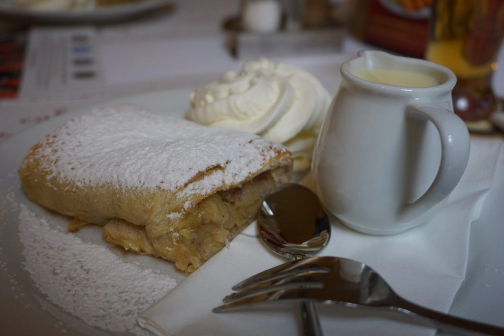 Louvre's Apple Strudel in Prague. Part of the Eating Prague Food Tour by Global Munchkins