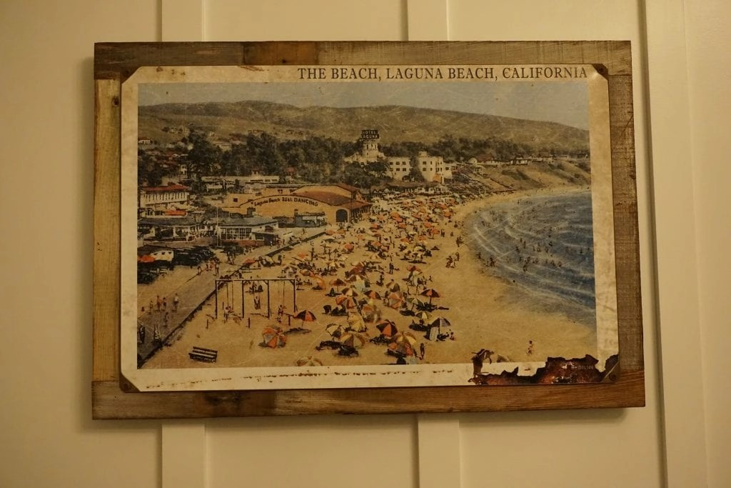Local Art from Laguna Beach featured throughout the rooms at The Ranch Laguna Beach. Check out my full review of this recently renovated trendy hotel in Laguna Beach | Global Munchkins