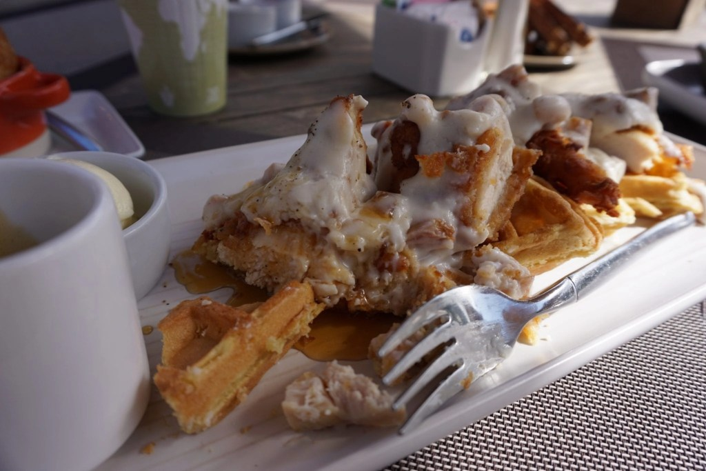 Chicken & Waffles from The Ranch at Laguna Beach