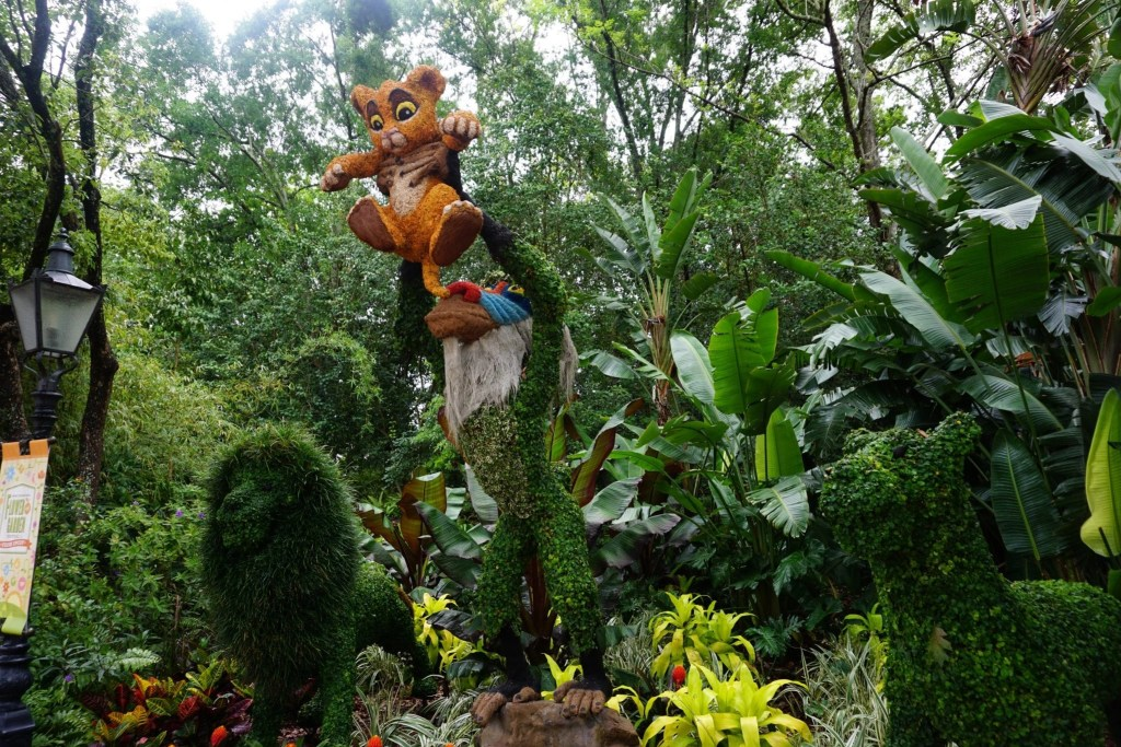 Lion King Topiary at Epcot's International Flower and Garden Festival | Global Munchkins