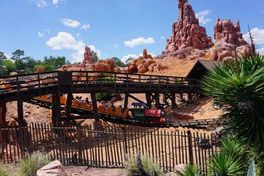 Scenic Shot of the Thunder Mountain ride at Magic Kingdom in Disneyworld | Global Munchkins