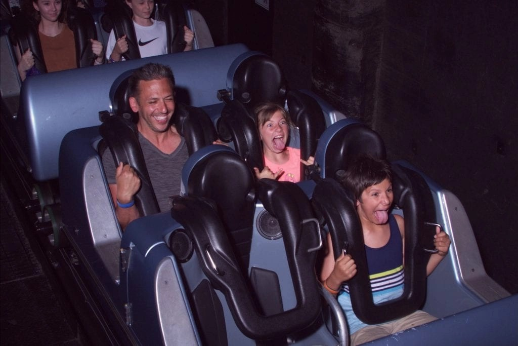 Family on Rockin' Roller Coaster in Hollywood Studios | Global Munchkins