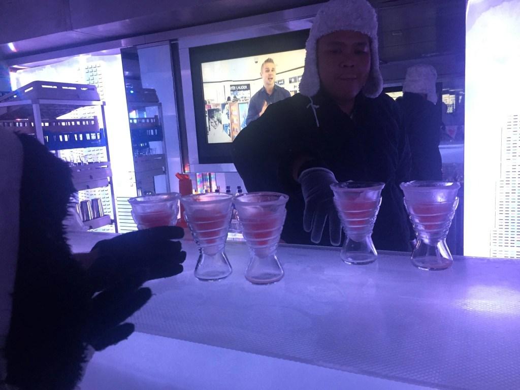 Svedka Ice Bar on board the NCL Getaway