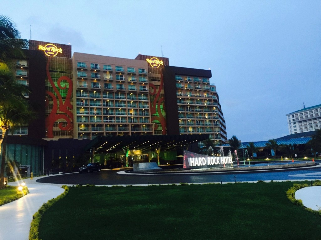View of the Hard Rock Hotel in Cancun