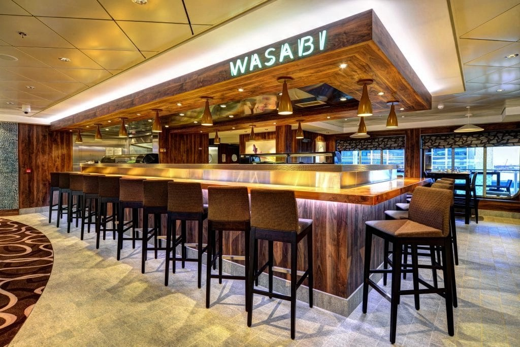 Wasabi Restaurant on the Norwegian Getaway ship
