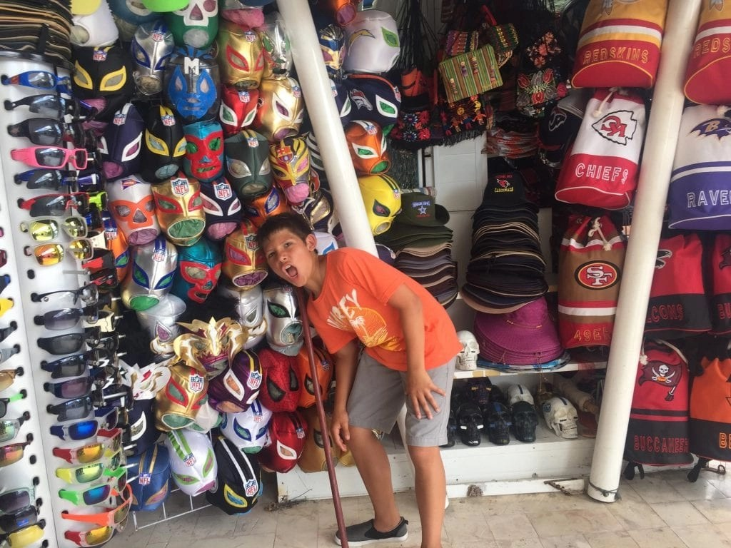 Mexican Wrestling Masks in Cozumel
